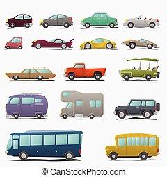 Cartoon cars set