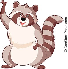 Cartoon cartoon Racoon - Vector image of the Cartoon cartoon...
