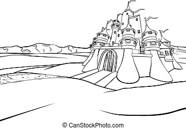 Cartoon Castle Scene Background - A cartoon fairytale...