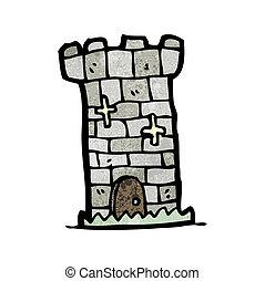 cartoon castle tower