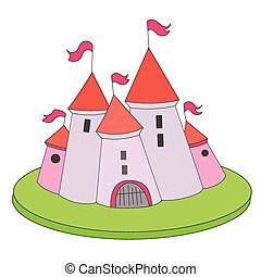Cartoon castle vector illustration