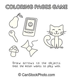 Cartoon Cat Coloring Book