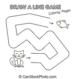 Cartoon Cat Coloring Book Game for Kids