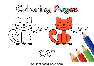 Cartoon Cat Coloring Book