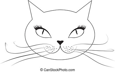 Cartoon cat face
