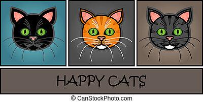 Cartoon cat header