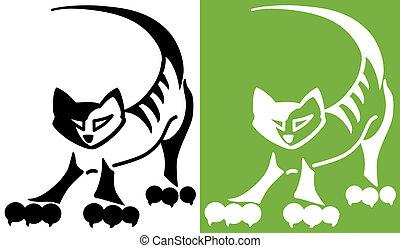 Cartoon cat - Illustration of a cartoon domestic cat