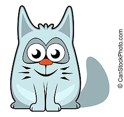 cartoon cat on white background