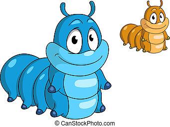 Cartoon caterpillar insect