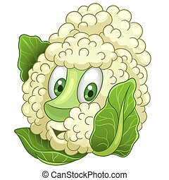 Cartoon Cauliflower Vegetable