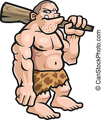 Cartoon Caveman - A big cartoon caveman with a club.
