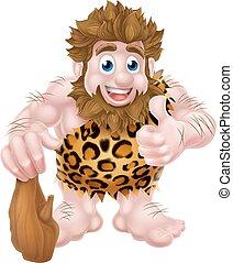 Cartoon Caveman - A cute cartoon caveman in an animal skin ...