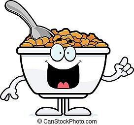Cartoon Cereal Idea - A cartoon illustration of a bowl of...