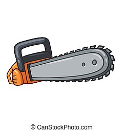 Cartoon chainsaw illustration