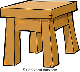 Cartoon chair - Chair on a white background vector...