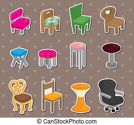 cartoon chair furniture stickers