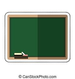 cartoon chalkboard eraser white chalk