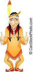 Aborigine - Cartoon Character Aborigine Isolated on White ...