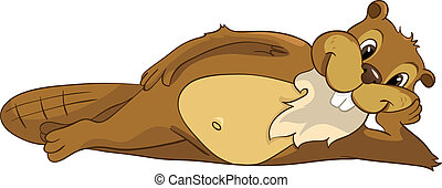 Beaver CREES - Cartoon Character Beaver CREES Isolated on ...