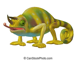 Cartoon Character Chameleon