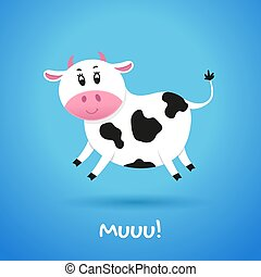 Cartoon character cow