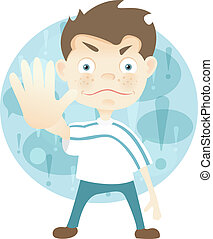 Cute Teenager - Cartoon Character Cute Teenager Isolated on ...
