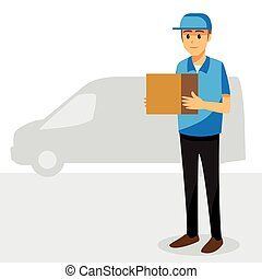 Cartoon character, Delivery man