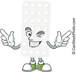 Cartoon character design concept of pills cartoon design ...