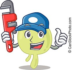 cartoon character design of lymph node as a Plumber with ...