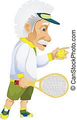 Einstein - Cartoon Character Einstein Isolated on White ...