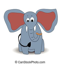 Cartoon character elephant