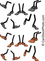 Cartoon character foots in shoes