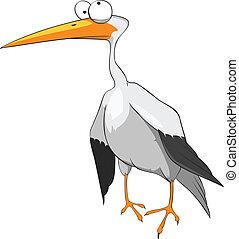 Cartoon Character Funny Stork