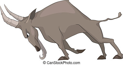 Cartoon Character Goat Isolated on White Background. Vector.
