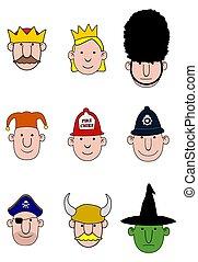 Cartoon character heads