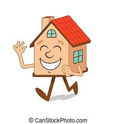 Cartoon character house