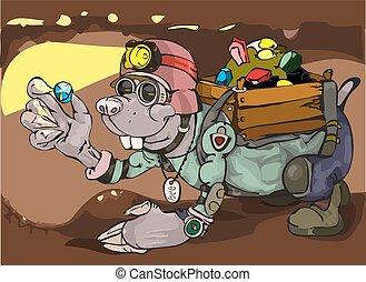 Cartoon Character Mole.
