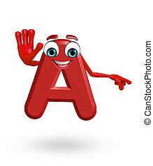Cartoon Character of alphabet A