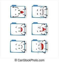 Cartoon character of blue manila folder with smile ...