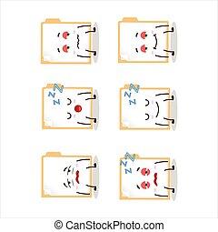 Cartoon character of brown manila folder with sleepy ...
