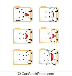 Cartoon character of brown manila folder with smile ...