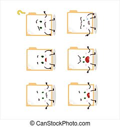Cartoon character of brown manila folder with what ...