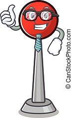 cartoon character of Businessman antenna wearing glasses