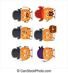 Cartoon character of chicken thighs with various pirates emoticons
