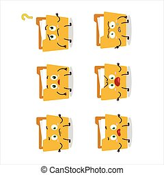 Cartoon character of file folder a with what expression....