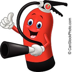 Cartoon Character of fire extinguis