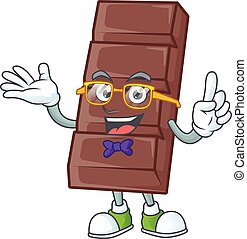 cartoon character of Geek chocolate bar design