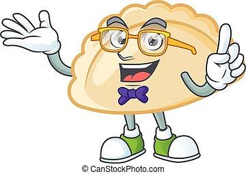 cartoon character of Geek pierogi design style