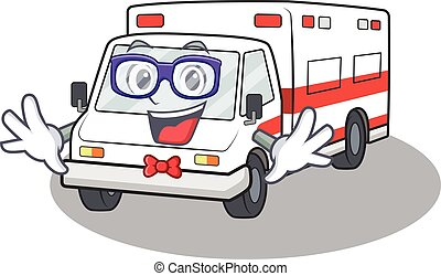 cartoon character of Geek the ambulance design