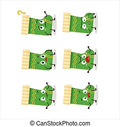 Cartoon character of green christmas socks with what ...